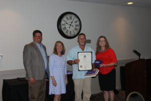 Delegate Wayne Hartman, State Senator Mary Beth Carozza, Harry Wyatt (Overdose Awareness Day Award winner), and Jessica Taylor (Chair of Overdose Awareness Day) Award was presented to Harry Wyatt and the Salisbury Elks #817 for their amazing dedication and efforts towards making Overdose Awareness Day of 2018 an awesome community event.