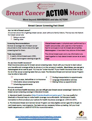 Breast & Cervical Cancer Program - Wicomico County Health Department