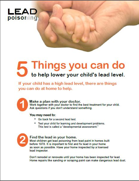 Lead Poisoning - 5 things you can do graphic.