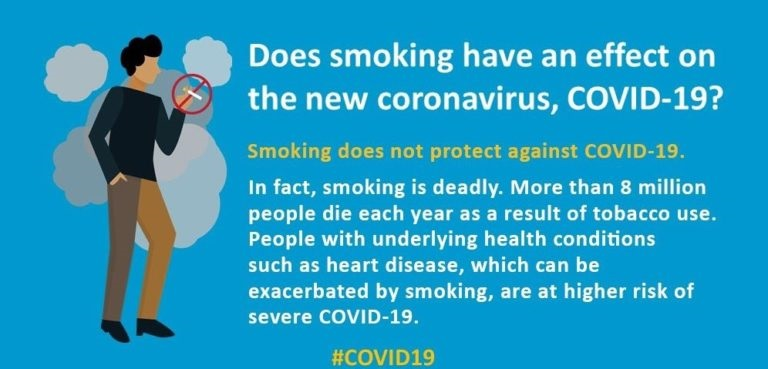 Does smoking have an effect on COVID-19? Smoking does not protect against COVID-19