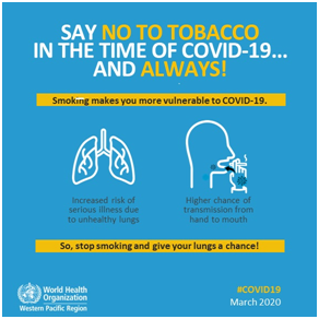Say no to tobacco in the time of COVID-19 and Always