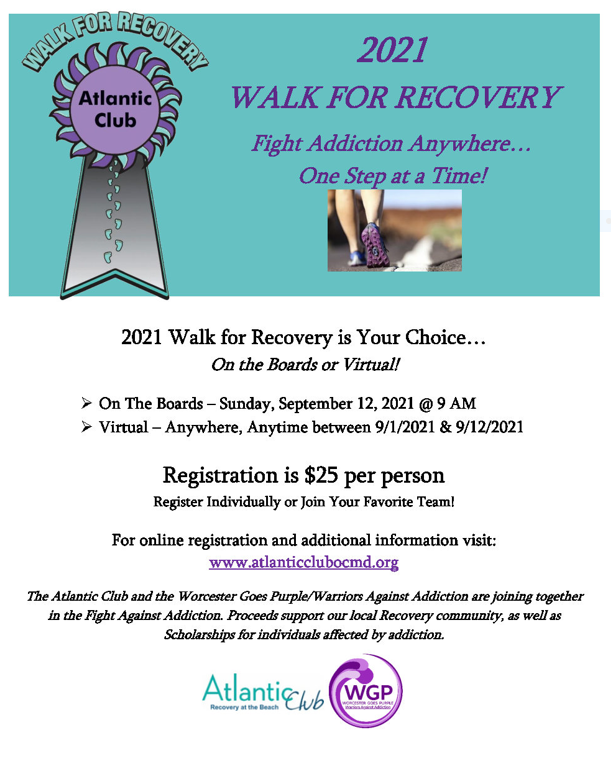 2021 Walk for Recovery Fight Addiction Anywhere One Step at a Time